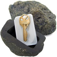 Stalwart 72-0263 Hide-A-Key Realistic Rock Outdoor Key Holder-As Seen on TV