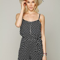 Free People Printed Dot Romper
