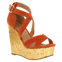 Office WILD WEST WEDGE CORAL SD/GOLD Shoes - Womens High Heels Shoes - Office Shoes