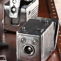 Vintage Camera Boxes - Set of 2 - Decorative Boxes -  Home Accents -  Home Decor | HomeDecorators.com