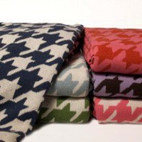 In2Green Eco Houndstooth Blanket - BL01HT - Blankets & Throws - Bed & Bath