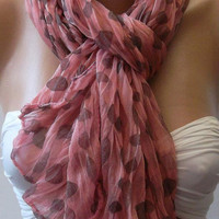 Pink Elegance Shawl / Scarf Headband Bandana Pareos by womann