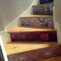 Classic Book Stair Decals - $95