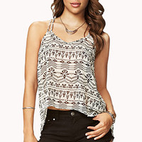 Tribal Print High-Low Cami