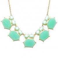 Rachelle Necklace in Mint - ShopSosie.com