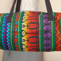 Vintage Rainbow Tribal Stripe Duffel Bag