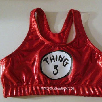 Thingy 3  Metallic Sports Bra Cheerleading by SparkleBowsCheer
