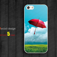 Red umbrella soft iphone 4 cases iphone 5 case Hard case Rubber case iphone 4 cases atwoodting design