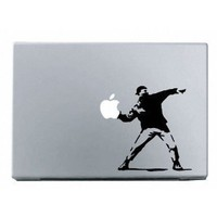 Banksy Molotov Guy Macbook Decal Mac Apple skin sticker