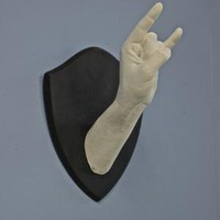 One of a Kind Rock n' Roll Wall Sculpture by plastichand on Etsy
