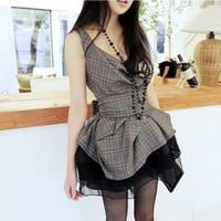 Fashion pendant led the pleated skirt dress