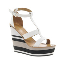 London Rebel Stripes Heeled Sandal