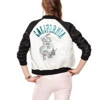 High Shine Twill Bomber