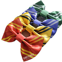 Harry Potter Hogwarts House Hair Bow - Gryffindor, Hufflepuff, Ravenclaw, Slytherin