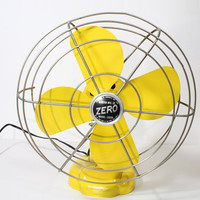 Refurbished Retro Vintage Yellow Zero Electric Fan