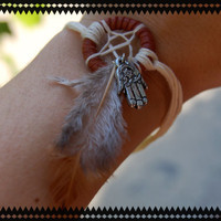 Aum Dream Catcher Bracelet with Feather  by BeYouTiFuLbyLindZ