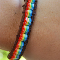 Rainbow Wrap Bracelet by BeYouTiFuLbyLindZ on Etsy