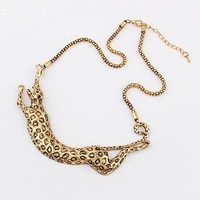 Golden Leopard Statement Necklace | LilyFair Jewelry