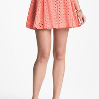 Lush Eyelet Skater Skirt (Juniors)(Online Exclusive) | Nordstrom