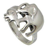 Elephant Sterling Silver Ring | stardrop - Jewelry on ArtFire