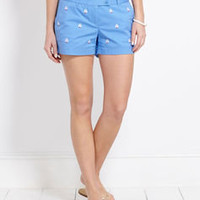 Womens Shorts for Summer: Sailboat Embroidered Dayboat Shorts – Vineyard Vines