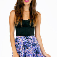 Floral Tribute Skater Skirt $36