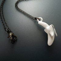 Non Bling Bling - White Banana Necklace