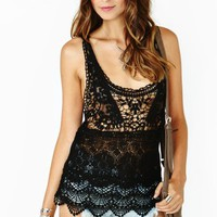 My Generation Crochet Top - Black