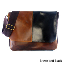 Leather Flap-top Messenger Bag (Colombia) | Overstock.com