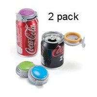 Jokari Soda Can Pump Fizz Carbonation Keeper Saver 2 piece set