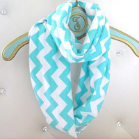 Tiffany Chevron infinity soft jersey loop scarf-Ready to ship