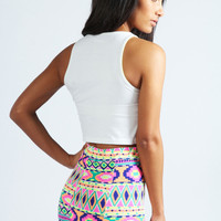Satty Neon Aztec Bright Knicker Shorts