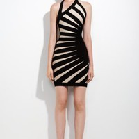 Herve Leger aimee contrast bandage dress - &amp;#36;225.00