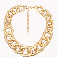 Matte Curb Chain Necklace