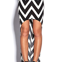 High-Low Chevron Skirt