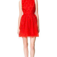 FANTASY FABRIC DRESS - Dresses - Woman | ZARA United States