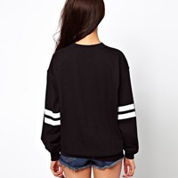 River Island Brooklyn 76 Sweat Top at asos.com
