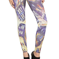 Doctor Who Van Gogh TARDIS Leggings 2XL | Hot Topic