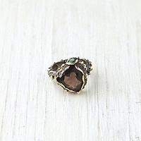 Bora  Smokey Mountain Stone Ring at Free People Clothing Boutique