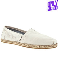 Women's White Toms Toms University Classicanglais at Schuh
