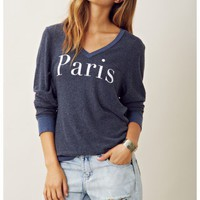PARIS BAGGY BEACH VNECK JUMPER