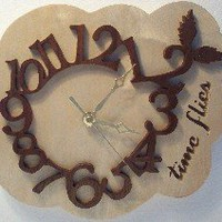 Time Flies Clock | WoodAPlenty - Woodworking on ArtFire