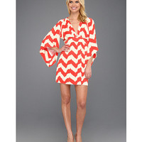 Tbags Los Angeles Deep V-Neck Kimono Sleeve Mini Dress w/ Tie Waist EM2 Print - Zappos.com Free Shipping BOTH Ways