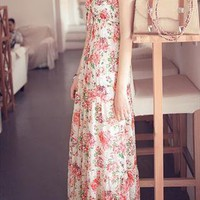 maxi flower print summer elegant dress sale 009X from GHL