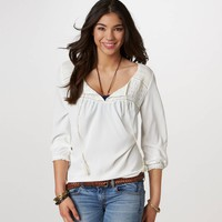 AE Ruched Gypsy Top | American Eagle Outfitters