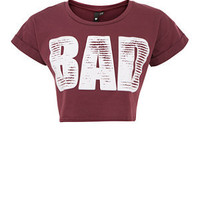 Influence Dark Red Bad Crop Top
