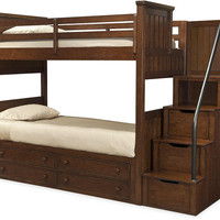 Jefferson Twin over Twin Stairway Bunk Bed