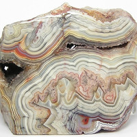 Crazy Lace Agate Polished Slab with Druzy Pockets