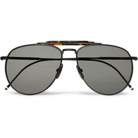 Thom Browne Metal Aviator Sunglasses | MR PORTER