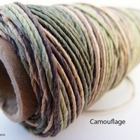 Hemp Cord, Multi Colored Hemp Twine, Camouflage String, Hemp Jewelry Supplies | HempHut - Craft Supplies on ArtFire